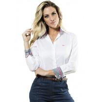 Camisete Social Branco Feminino Principessa Vanda
