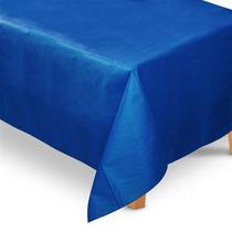 Toalha De Mesa Tnt Retangular Azul Escuro 1,40m X 2,00m
