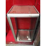 Cajon Vidrio Aluminio Mostrador Sin Puertas Repisa Cubo