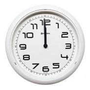 Relógio De Parede Eurora Cozinha Sala Branco 6517