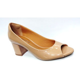 Sapato Peep Toe Feminino Frete Grátis Ana Gimenez 005125