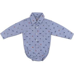 Body Camisa Com Gravata Para Bebe - Roupas de Bebê Azul aço no ... 4ca88e1d2a4