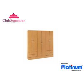 Placard Ropero Platinum 916 Roble 6 Puertas 4 Cajones