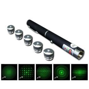 Caneta Laser 100mw Com Estojo 5 Pontas A Pilha
