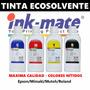 Tinta Inkmate Ecosolente Plotter Epson Mimaki Mutoh - 1lts