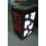 Lampara Moderna Decorativa De Piso En Madera Mdf
