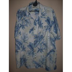Camisa Hawaiana Flores Modelo Clasico E 322