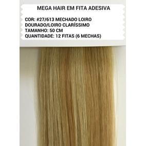 Cabelo Humano- Mega Hair Fita Adesiva #27/613 + Brinde
