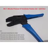Kit 1 Alicate Prensar E Terminais Faston 2,8 - 4,8 E 6,3