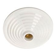 Plafon Mc Branco Pavilonis + Soquete Em Porcelana