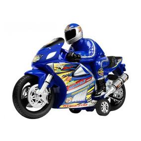 Moto Racer Movido A Fricção Azul - Lider Brinquedos