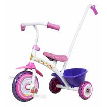Triciclo Little Peppa Pig Metal Super Calidad Con Canasto