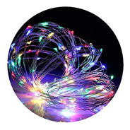 Alambre Luces Led 5 Metros Multicolor Exterior Cable Tira Hilo Pilas Navidad