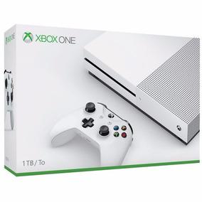 Console Xbox One S 1tb 4k Microsoft Novo Lacrado 2 Controles