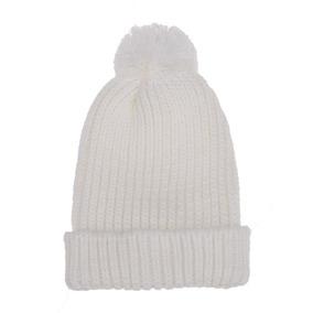Gorro Touca De Lã Para Frio Neve Branco Com Pompom 78b82012348