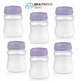 Kit 6 Recipientes Armazenar Leite Materno 210ml Multikids