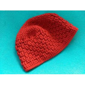 Touca Gorro Boina Trico Lã Artesanal Vermelha Inverno Linda d40ebfaf20f