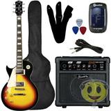 Kit Guitarra Les Paul Canhota Strinberg Clp79 Lh + Cubo Sg15
