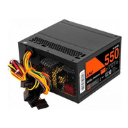 Fuente Atx Gamer Pc Lnz 550w 40a Cooler 80mm Sata 500w +
