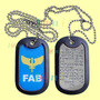 Dog Tag Estilizado - Fab - Força Aérea Brasileira