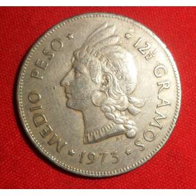 Jm* Dominicana 1/2 Peso 1973 - 30 Mm