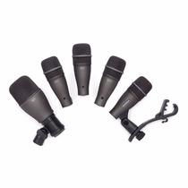 Kit Microfono Samson Dk-705 P/bateria + Soportes + Valija