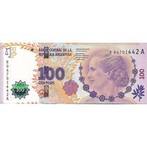 Billete Argentina $100 Reposicion 2do Dis. Sin Circ. Palermo
