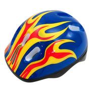 Capacete Azul Com Led Infantil Bike Skate Patins Patinete
