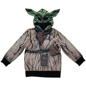 Star Wars Yoda Niños Zipper Hoodie (m (8))