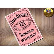 Whisky Bebida Rosa Papel De Arroz 20 X 30 Cm