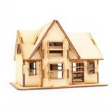 Modelo Casa Cabaña De Campo En Mdf Rompecabezas 3d