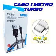 Cabo Usb Tipo C Turbo Motorola Moto G6/ G7 / G8