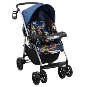 Carrinho De Bebê At6-k Bike Azul Reclinável - Burigotto