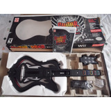 Guitarra Para Wii Edicion Warrios Of Rock (incluye Juego)