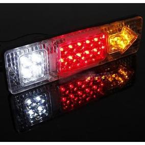 Lanterna Freio Led Caminhão Reboque Carretinha Triciclo (par