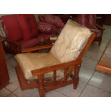 Sillon Reclinable 1 Cpo + 2 Almohadones Algarrobo