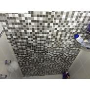 Kit 10 Adesivo Decorativo 30x30 Cm Impresso Pastilha Mosaico