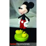 Adorno De Torta Cumpleaños - Mickey 16cm Porcelana Fría