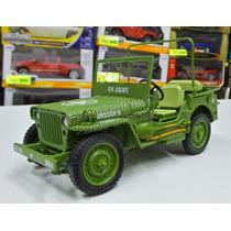 1:18 Jeep Willys 1942 U.s. Army Verde Militar Welly Triple 9