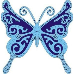 Suaje De Corte De Mariposa Exótica / Exotic Butterfly Die
