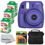 Super Pack Camara Fuji Instax Mini 8 Con Cartuchos Y Estuche