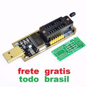 Programador Gravador Usb Flash Bios Eprom Ch341a Spi 24x25x