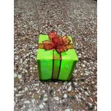 Caja Regalo Arbol Navidad Adorno Con Luces Led
