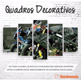 Quadro Moto Esportiva 46 Valentino Rossi Moto Gp 114x65 5p