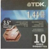 Diskettes10 Tdk ,1,44 Mb 3,5 En Caja Cerrada