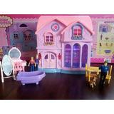 Casa De Brinquedo Barbie/polly. Com Luz, Som E Acessórios