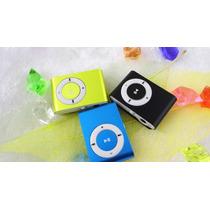 Reproductor Mp3 Shuffle Con Memoria Interna 4gb + Audífonos