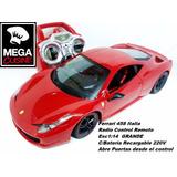 Auto Ferrari 458 Radio Control Remoto Esc1:14 C/carg220v