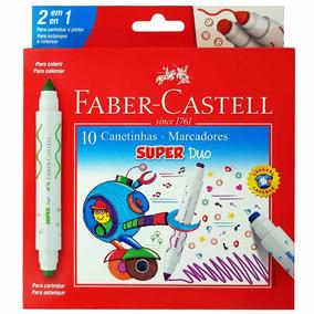 Canetinha Hidrográfica 10 Cores Super Duo Faber Castell