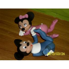Mickey Mouse Baby Adorno En Porcelana Fría Para Tu Torta